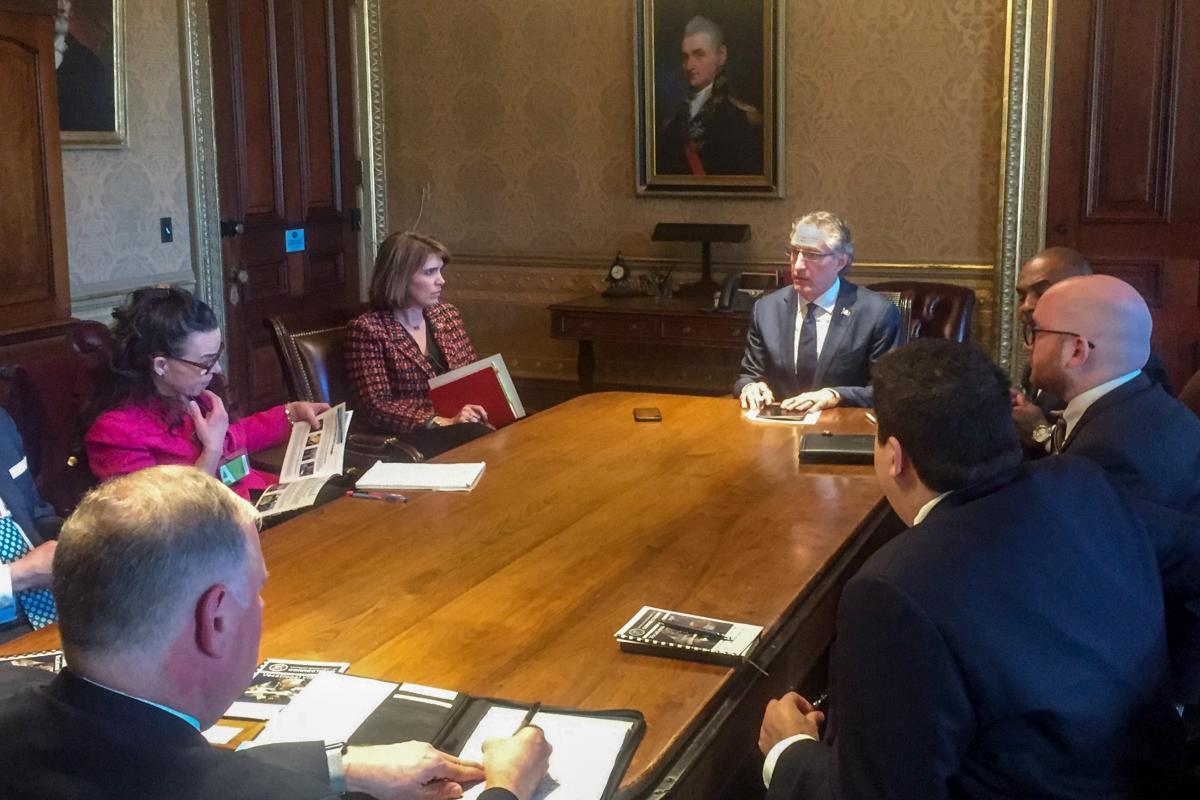 Governor Burgum moderates a White House discussion on modernizing prison services